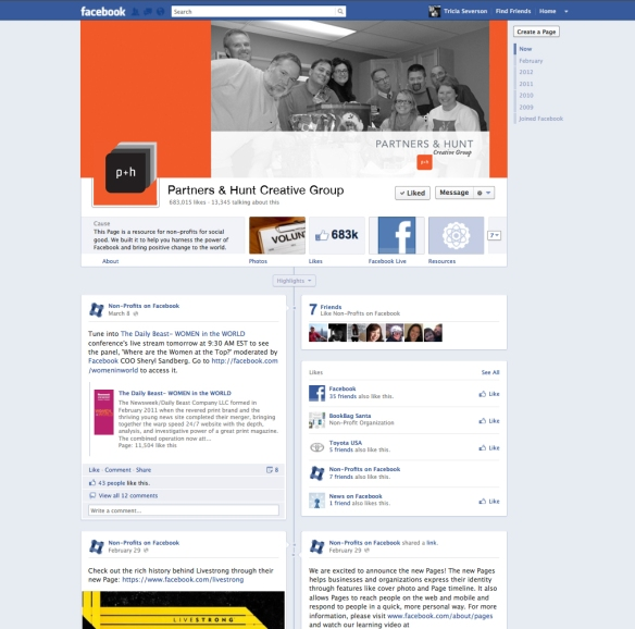 Facebook Cover Mockup Template by Tricia