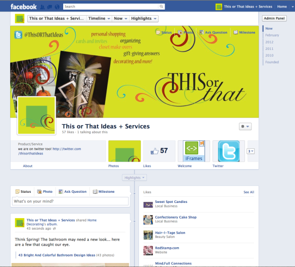 This or That Ideas & Services Facebook Cover