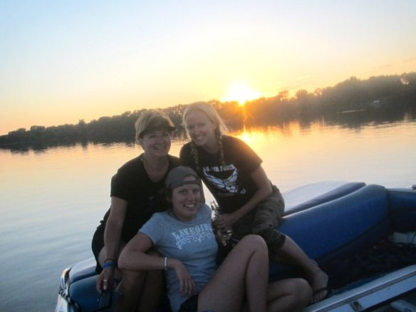 my mom on the lake