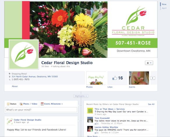 Cedar Floral Design Studio Facebook