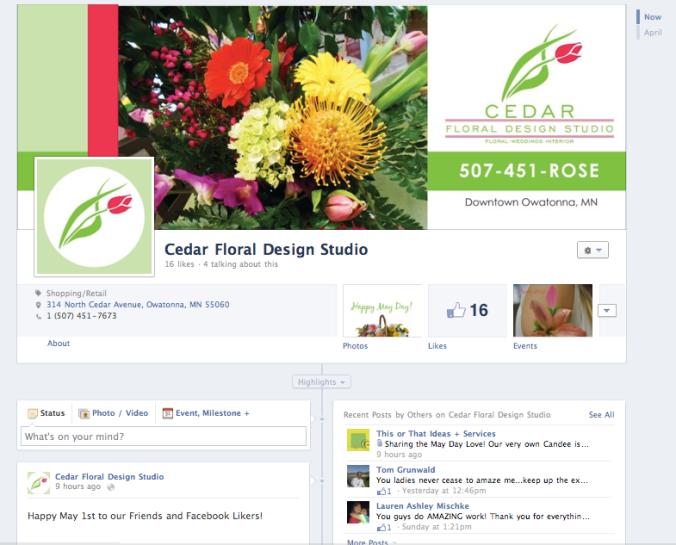 Cedar Floral Design Studio Facebook