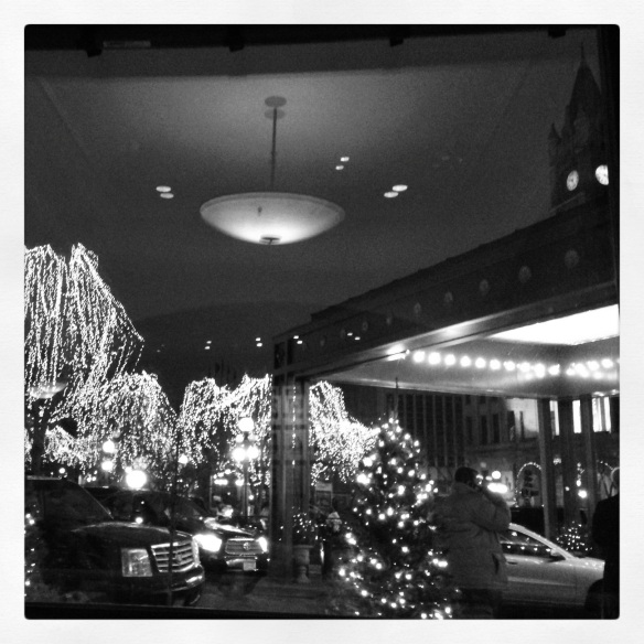 View from table at dinner, St Paul Grill