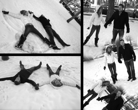 Snow playing