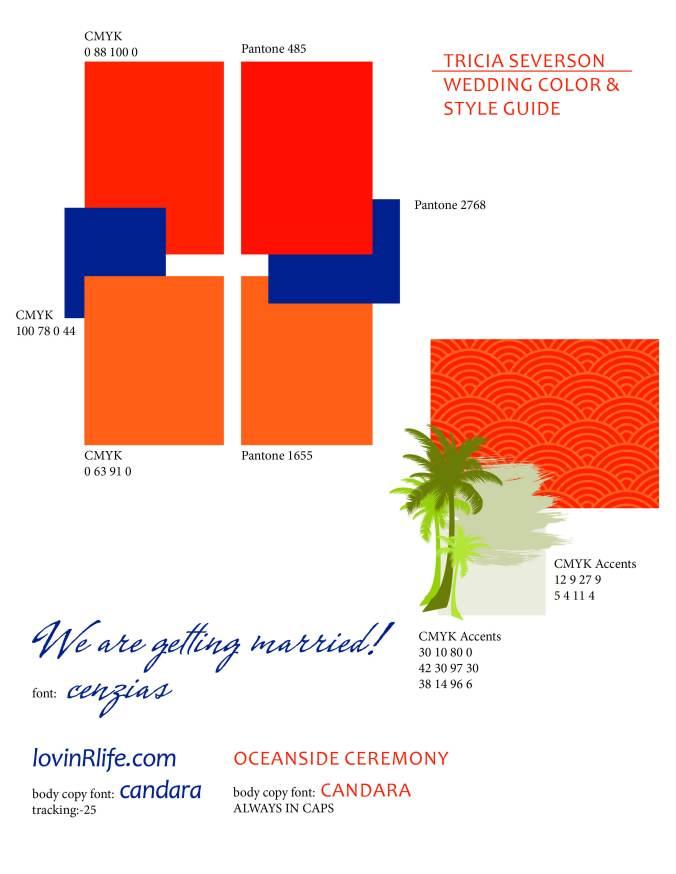 Wedding Brand Sheet