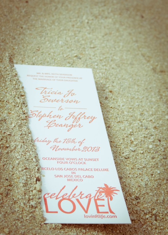 wedding invite by Tricia