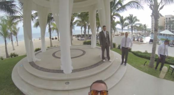 wedding go pro set up