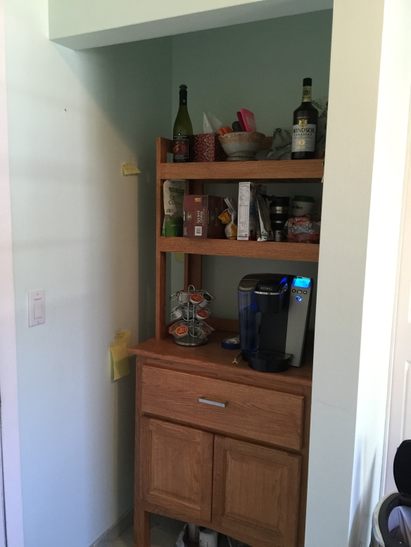 before cabinet area